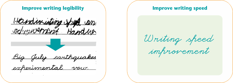 Transform poor handwriting with improved legibility and writing speed